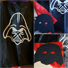 STAR WARS KIDS CAPE AND MASK DARTH VADER SUPERHERO DRESS UP COSTUME SUPER HERO