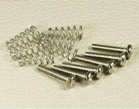 Kit Micro Strat 6 vis 1.85x18mm NIickel + 6 ressorts Stratocaster Pickup Screws