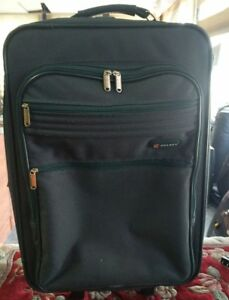"""Green rolling Delsey suitcase 23"""" Tall"""