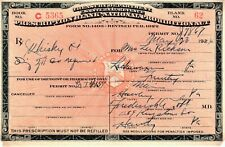 1924 Vintage Prohibition Prescription Whiskey Pharmacy Doctor Bar Hawley Pa Rx