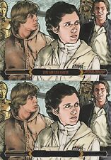 Topps Star Wars Illustrated The Empire Strikes Back No. 5 Bronze & Purple