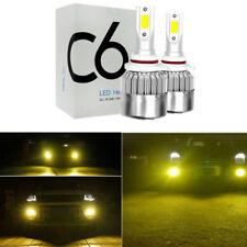 2x New 90059006 3000k Golden Yellow High Power Cob Led Fog Lights Driving Bulb