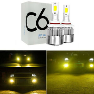 2x NEW 9005/9006 3000K Golden Yellow High Power COB LED Fog Lights Driving Bulb