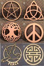 Mdf Triple Luna/Pentagrama/Árbol De La Vida/Símbolo de Paz// Forma/Luna Princesa