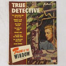 Vtg 40s True Detective Mystery Pulp Crime Magazine September 1944 Blonde Woman