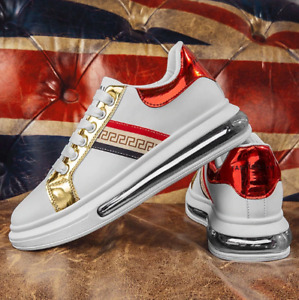 Men Casual Shoes Fashion Sneakers Golden luxury shoes
