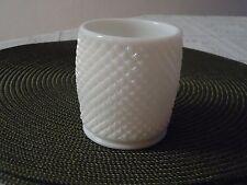 Vintage White Milk Glass English Hobnail Sugar/ Marmalade Bowl
