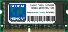 256MB DRAM memoria SODIMM RAM per Cisco 2801 Router (mem2801-256d)