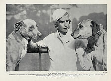 RHODESIAN RIDGEBACK WITH HER DOGS AT CRYSTAL PALACE DOG SHOW OLD 1934 DOG PRINT