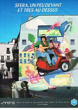 PUBLICITE ADVERTISING  1992   SFERA  PIAGGIO   scooter