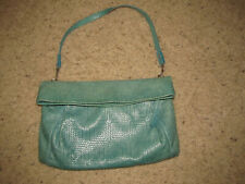 16ab2d3e3d Gianni Chiarini Aqua-Turquoise Leather Clutch Handbag Shoulder Purse