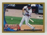 2010 Topps Gold Border #652 Chipper Jones Atlanta Braves # 0164/ 2010