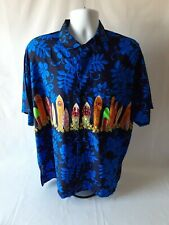Rima men's surfboard Hawaiian short sleeve button-down shirt size XL