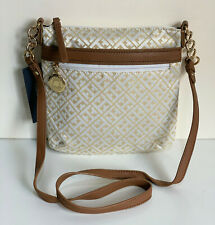 NEW! TOMMY HILFIGER GOLD YELLOW BROWN MEDIUM CROSSBODY SLING BAG PURSE $65 SALE