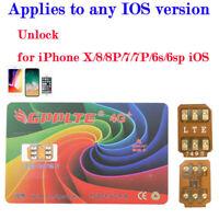 Turbo SIM Card Unlock for iPhone 12 11 Pro Max XS XR 8 7 Unlocking LTE IOS 13.6