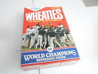 VINTAGE WHEATIES CEREAL BOX - 1987 WORLD SERIES - MINNESOTA TWINS