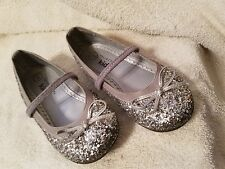 Girl's Glitter Sparkly Dress Shoes--Ballet Flats Size 9