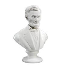 """PRESIDENT ABE ABRAHAM Lincoln 3"""" WHITE Bust NEW"""