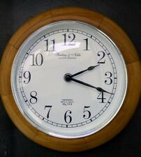 Sterling and Noble Wall Clock Oak wood Frame 2,055,787 Mfg No.9