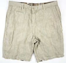 Men's Tommy Bahama size 34 Reversible Plaid 10-Inch Linen Island Duo Shorts NWT