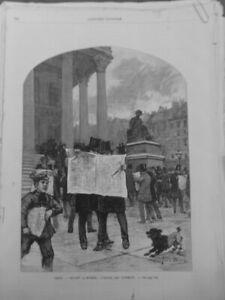 1887 Ui Paris Palace Bourse Newspapers Dog