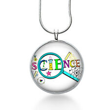 Science teacher Necklace -Teacher gifts jewelry -- teach, school
