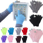 Unisex Magic Touch Screen Gloves Smart Phone Tablet Winter Knit Warmer Mittens