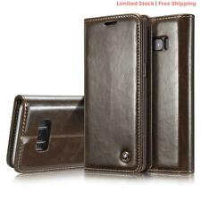SAMSUNG GALAXY S9 Plus BROWN LEATHER FILP OVER CASE COVER CARD WALLET