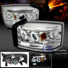 2005-2007 Dodge Dakota LED Projector Headlights Chrome