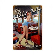 AMERICAN DINER PIN UP GIRL Schild 45,5 cm Bar Cafe Kneipe Imbiss Drive In