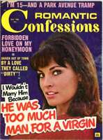 Early Raquel Welch Cover  Romantic Confessions 1966    Too Much Man for a Virgin