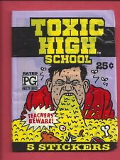 1991 Topps TOXIC HIGH SCOOL single  Pack