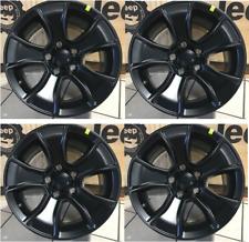 Jeep Wrangler JK JL New Cast Aluminum Wheel 17X8.5 Jet Black set of 4 Mopar OEM