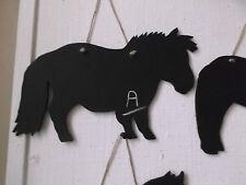 Forma cavallo Gesso Board Segno Lavagna Regalo di Compleanno mini pony Shetland