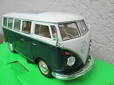 Vw Bus Combi Volkswagen T1 1962 vert, echelle 1:24, longueur 16cm ,neuf