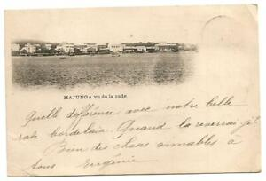 Africa,Madagascar, Majunga. Posted in 1900. Undivided back. rare postcard.