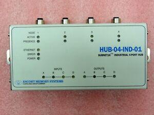 EMS Escort Memory Systems HUB-04-1ND-01 Subnet16 Industrial 4-Port Hub