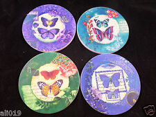 Butterflies CoasterStone Absorbant Set of 4 Assorted Boxed Set New in Box