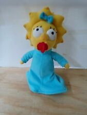 """The Simpsons Universal Studios Baby Maggie Stuffed Plush Doll Official 10"""" Toy"""