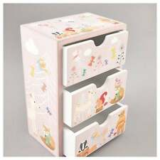 Woodland Animali 3 CASSETTI/portagioie scatola portagioie in legno per ragazze regalo