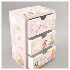 Woodland Animales de 3 Cajones/Caja de la baratija caja de joyas regalo de madera Girls