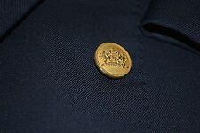 Oxxford Navy Serge Super 100's Wool Blazer 42L 42 L Neiman Marcus