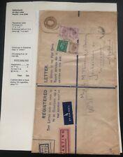 1946 Edinburgh England Airmail Oversized Cover To Wassenaar Holland 100 Cigarett