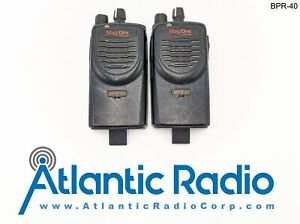 Two Motorola Mag One BPR40 UHF450-470MHz Portable Two-Way Radio for Parts