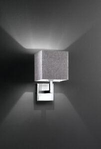 Lampada da parete applique Chrome Polished With Lampshade Fabric Perenz 6062
