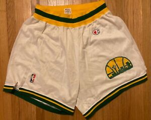 Vintage Seattle Supersonics NBA Champion Basketball Shorts - Men's Large