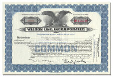 Wilson Line, Incorporated Stock Certificate (Steamboats)