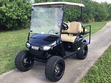 REFURB black 2017 ezgo 48v txt 4 seat Passenger golf cart alloy rims lifted FAST