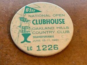 1961 US Open PGA Golf Clubhouse Press Pin Gene Littler