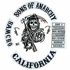 Son Of Jacket Back Embroidered Anarchy Biker Rider Patch Backing Badge 14 PCS